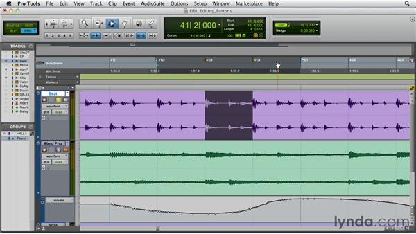 Special Edit window buttons: Pro Tools 10 Essential Training