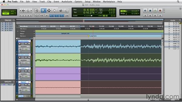 Creating an audio loop: Pro Tools 10 Essential Training