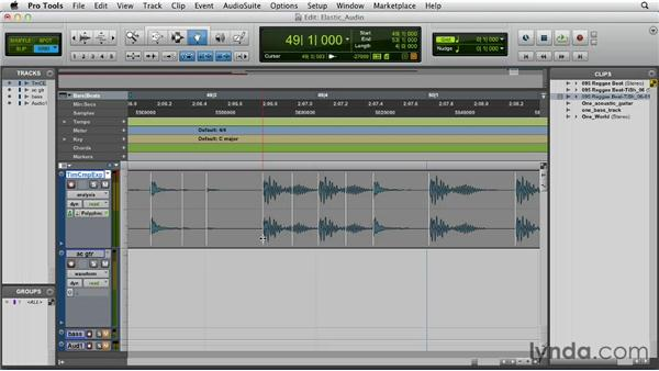 Using Elastic Time and Elastic Pitch: Pro Tools 10 Essential Training
