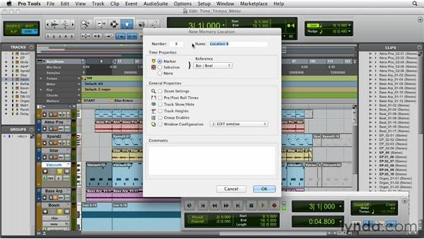 Using time, tempo, meter, key, and chord: Pro Tools 10 Essential Training
