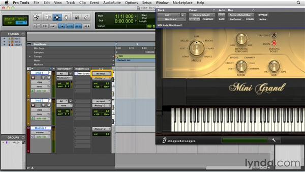 Recording MIDI data: Pro Tools 10 Essential Training