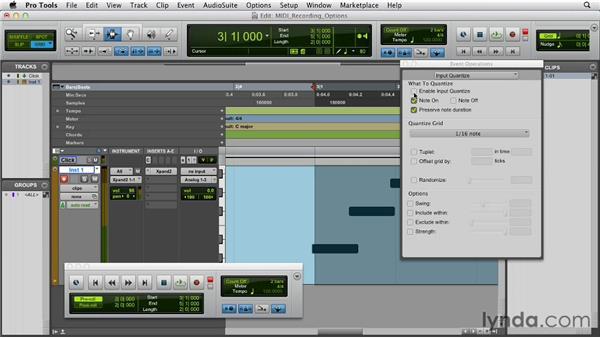 Recording options for MIDI: Pro Tools 10 Essential Training