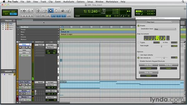 Using Step Input: Pro Tools 10 Essential Training