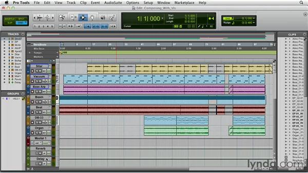 Composing with virtual instruments: Pro Tools 10 Essential Training