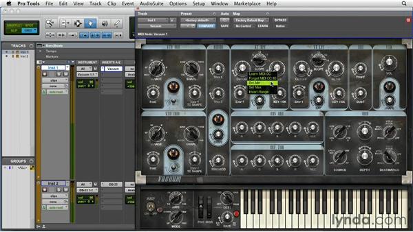 Using MIDI Learn: Pro Tools 10 Essential Training
