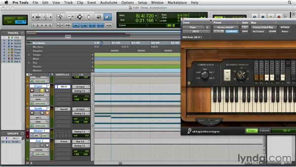 Drawing automation with the Pencil tool: Pro Tools 10 Essential Training