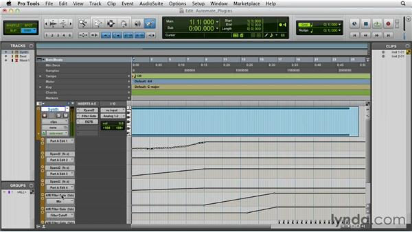 Automating plug-ins and virtual instruments: Pro Tools 10 Essential Training