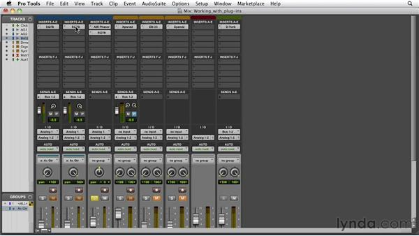 Working with plug-ins: Pro Tools 10 Essential Training