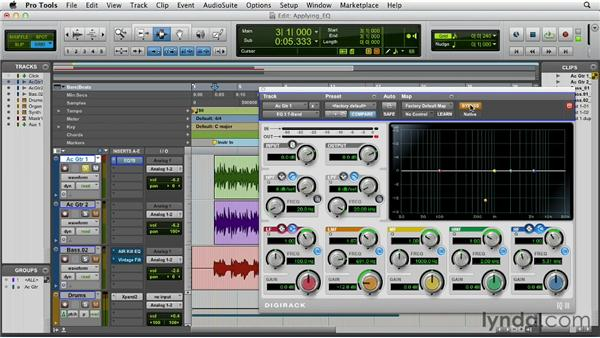 Applying EQ: Pro Tools 10 Essential Training