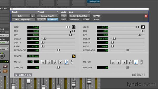 Using delay effects: Pro Tools 10 Essential Training