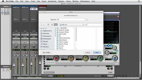 Applying AudioSuite plug-ins: Pro Tools 10 Essential Training