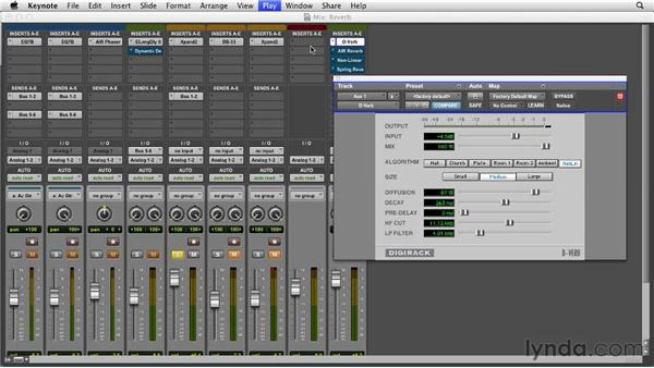 Adding reverb to your mix: Pro Tools 10 Essential Training