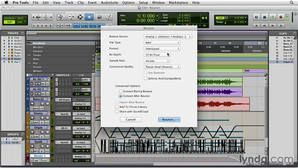 Bouncing down a mix: Pro Tools 10 Essential Training