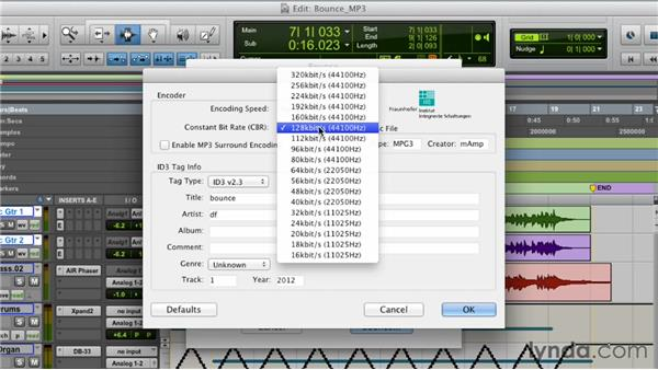 Making an MP3 for iTunes and SoundCloud: Pro Tools 10 Essential Training