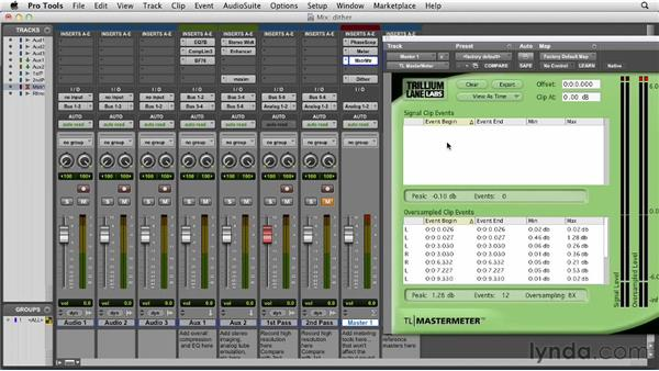 Bouncing down master recordings with Dither and Noise Shaping: Pro Tools 10 Essential Training