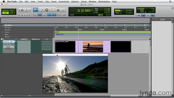Importing and displaying video files: Pro Tools 10 Essential Training