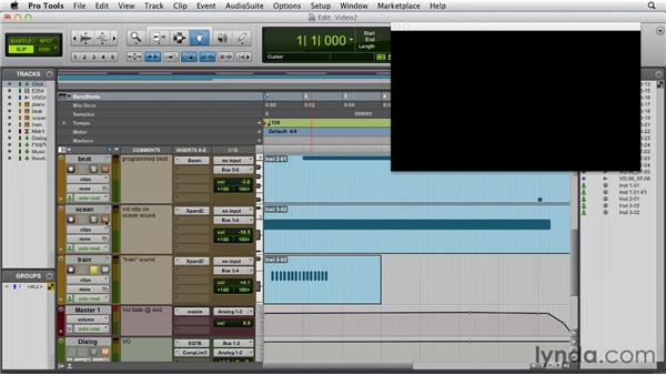 Adding music, foley, ADR, and FX: Pro Tools 10 Essential Training