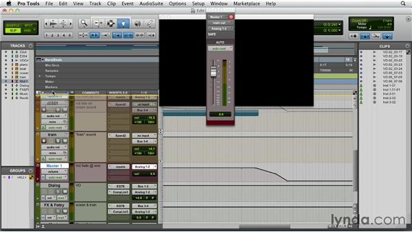Bouncing down video and audio together: Pro Tools 10 Essential Training