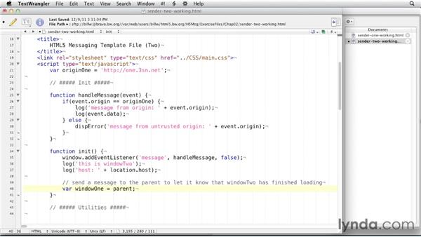 Sending messages to a listener: HTML5: Messaging and Communications in Depth