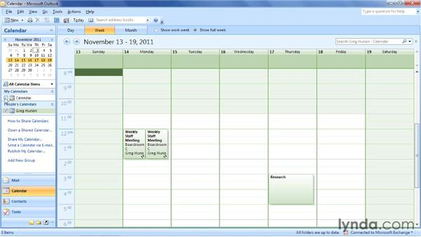 Creating an appointment by selecting a time: Outlook 2007: Time Management with Calendar and Tasks