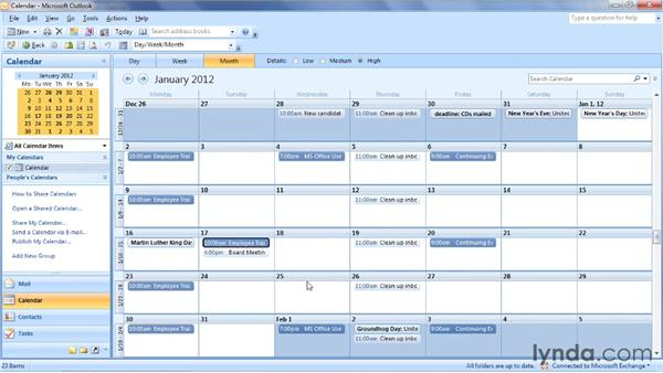 Creating and troubleshooting recurring meetings: Outlook 2007: Time Management with Calendar and Tasks