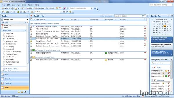 Understanding tasks, to-do items, and the Daily Task List: Outlook 2007: Time Management with Calendar and Tasks