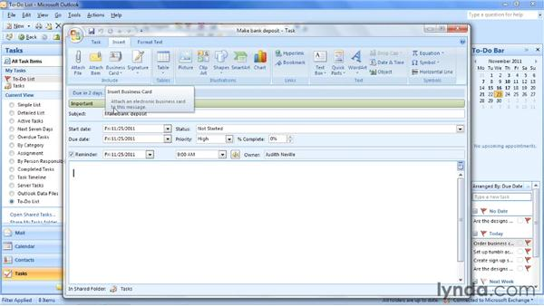 Creating a task from scratch: Outlook 2007: Time Management with Calendar and Tasks