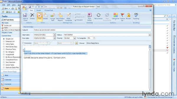 Troubleshooting delegation: Outlook 2007: Time Management with Calendar and Tasks