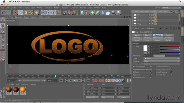 013 Logo lighting basics: Design in Motion