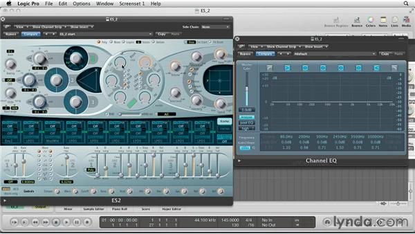Tweaking the ES2 filters to shape expressive sounds: Virtual Instruments in Logic Pro