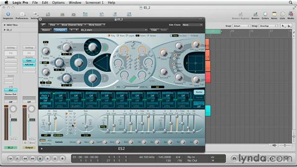 Creating rhythmic movement with the LFO's: Virtual Instruments in Logic Pro