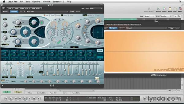Using the 3 envelopes to give shape to your sounds: Virtual Instruments in Logic Pro