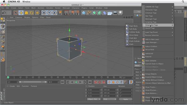 Comparing contextual menus: CINEMA 4D R13 New Features