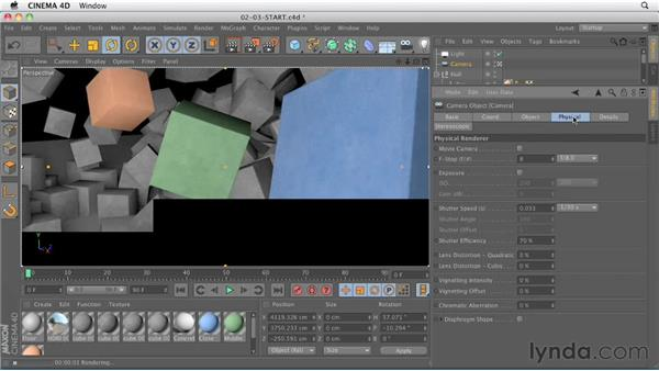 Physical Render: depth of field: CINEMA 4D R13 New Features