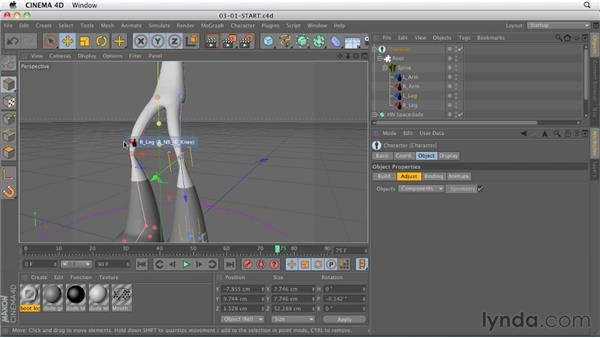 Using the Character object for building and applying rigs: CINEMA 4D R13 New Features