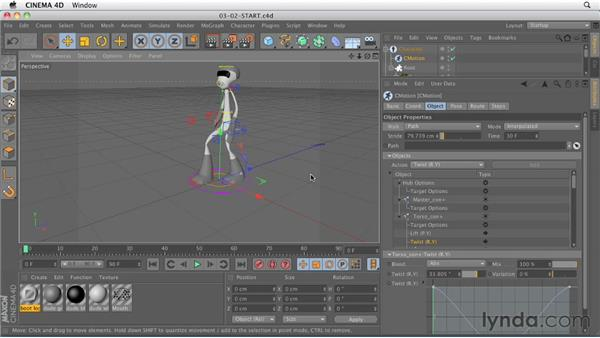 Using the CMotion system for creating parametric movement: CINEMA 4D R13 New Features