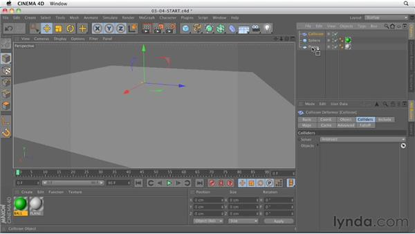 The new Collision deformer: CINEMA 4D R13 New Features