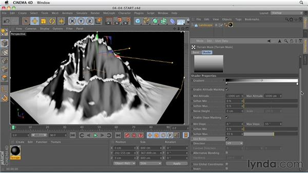 Terrain Mask shader: CINEMA 4D R13 New Features