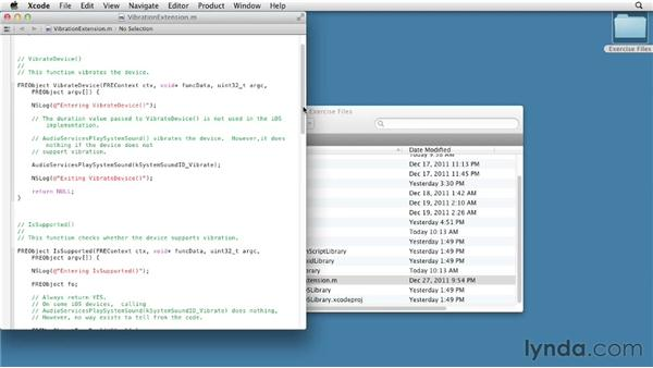 Understanding native iOS code: Flex 4.6 and AIR 3.0 New Features for Mobile Apps