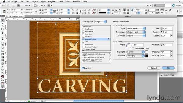 025 Simulating Carving and Chiseling: InDesign FX