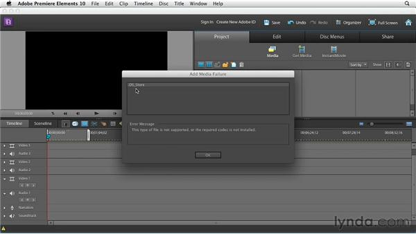 Importing media: Premiere Elements 10 Essential Training