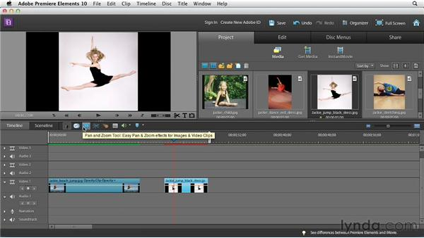 The new Pan and Zoom tool: Premiere Elements 10 Essential Training