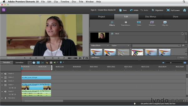 Using the Effects Mask tool: Premiere Elements 10 Essential Training