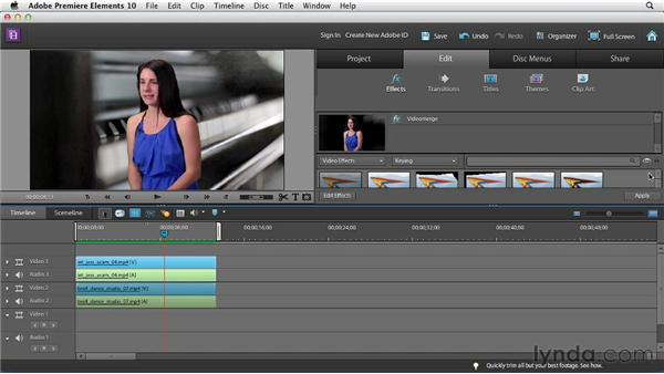 Videomerge and Green Screen: Premiere Elements 10 Essential Training