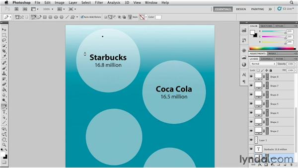 Adding details to area bubble graphics: Infographics: Area Bubbles