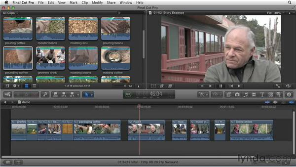 Finding the essence of the story: Effective Storytelling with Final Cut Pro X v10.0.9