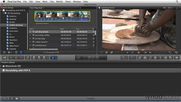 Using favorite tags to call clips into action: Effective Storytelling with Final Cut Pro X v10.0.9