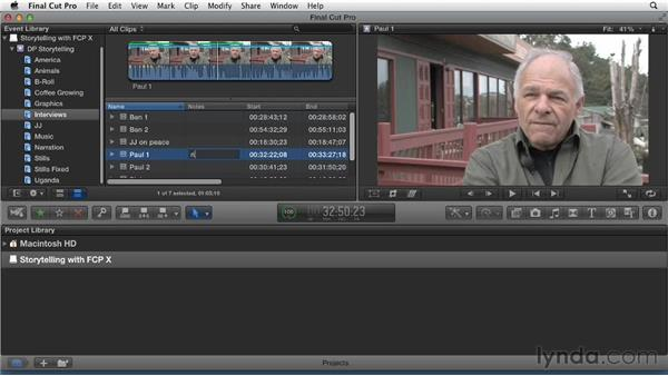 Making notes to capture observations: Effective Storytelling with Final Cut Pro X v10.0.9