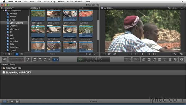 Performing a complex search: Effective Storytelling with Final Cut Pro X v10.0.9