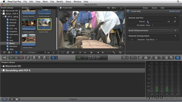 Prepping clips for editing: Effective Storytelling with Final Cut Pro X v10.0.9